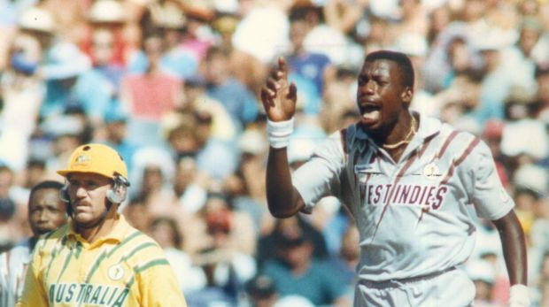 Curtly Ambrose and those wristbands.