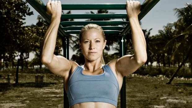Do-able: Chin-ups are no longer a male domain.
