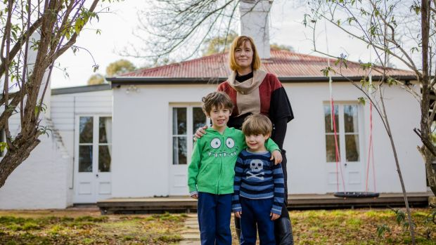 Kate Gauthier is concerned about heritage being destroyed at Oaks Estate. She stands with her two sons Atticus 5, and ...