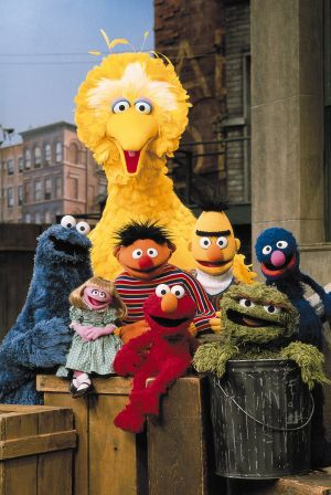 Big Bird and <i>Sesame Street</i> friends.