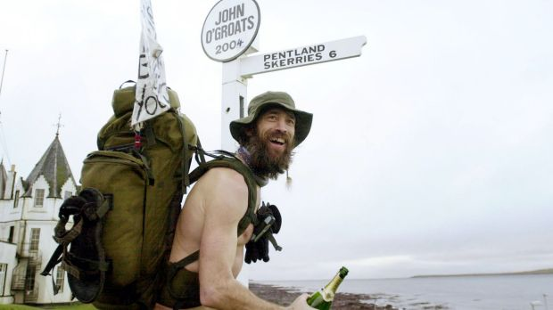 "Keep walking: ""Naked Rambler"" Stephen Gough after hiking the length of Britain in 2004."