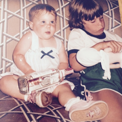 """Amy Schumer shared this hilarious baby snap with the caption """"always a bridesmaid""""."""