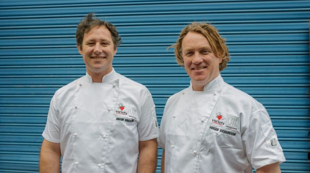 Twice as nice: Shaun Presland and Adrian Richardson are cooking up kindness.