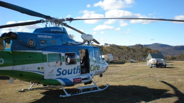 The Snowy Hydro Southcare helicopter has been tasked to a crash south of Bredbo.
