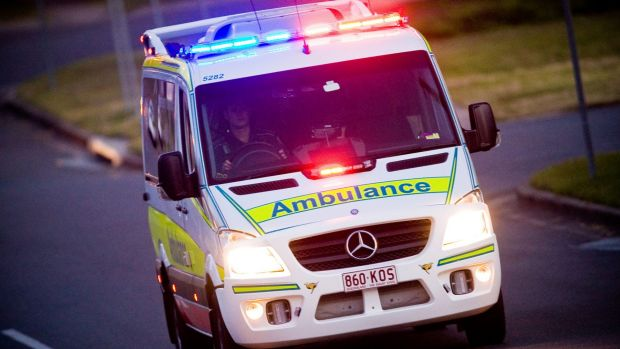 A man has died in Townsville after he drove off the road and into a fence following a suspected heart attack.