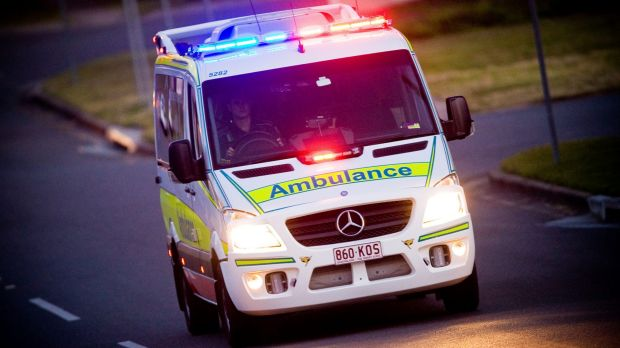 A motorbike rider suffered multiple fractures in a crash in Brisbane on Sunday night, then attempted to catch the train ...