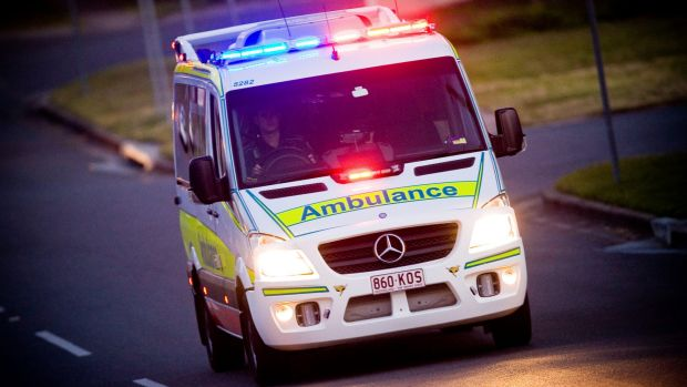 "A surfer has been rushed to Princess Alexandra hospital with ""tingling"" in his lower body after he fell from his ..."