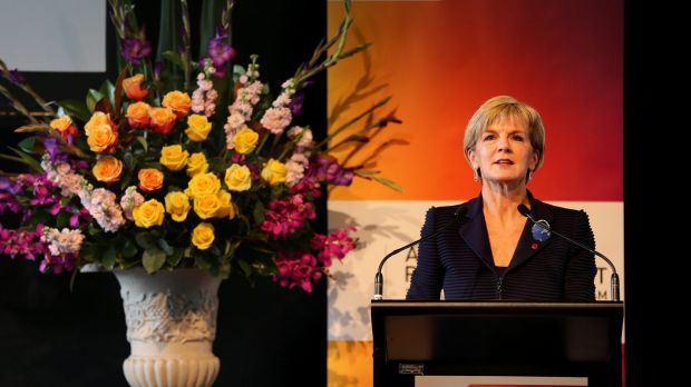 Foreign Affairs Minister Julie Bishop during her address at Australia's Regional Summit to Counter Violent Extremism.