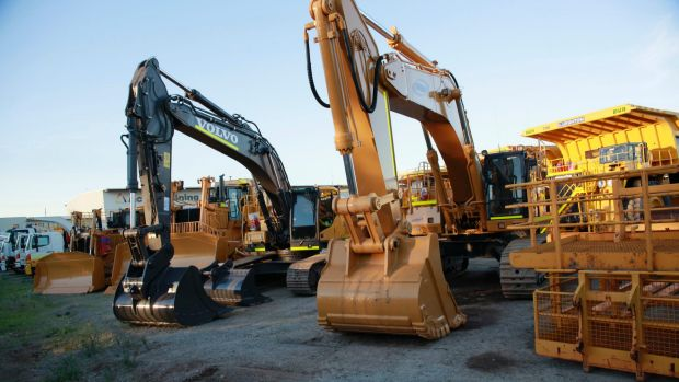 Mining equipment is being parked up due to minimal demand and significant over-supply.