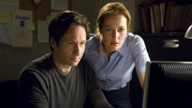 Tension: David Duchovny and Gillian Anderson are back as agent Scully and Mulder for <i>The X-Files</i> remake.