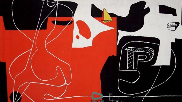 A detail from Le Corbusier's tapestry.