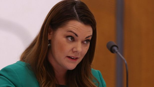 Greens senator Sarah Hanson-Young was outraged after a Nauru police brief naming an alleged rape victim was made public.