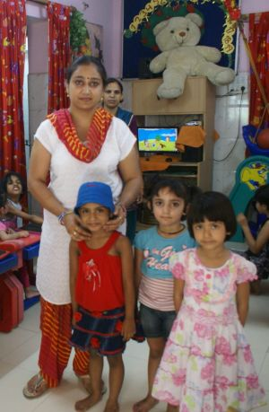 'My children here were so close I can't believe it': Rekha Saraswat with her playgroup.