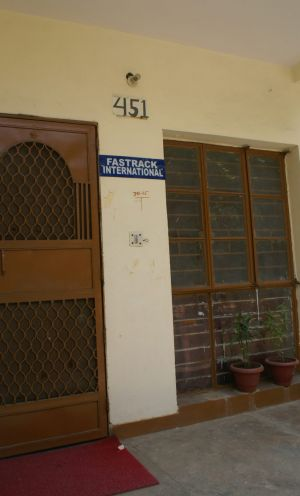 The ground-floor office in West Delhi from which the adoption racket was run.