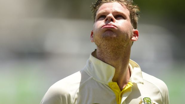 Milestone missed: Steve Smith walks off after being dismissed one short of his double century.