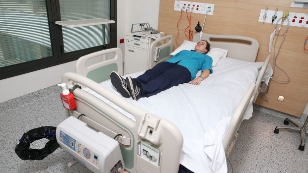 A bariatric bed at Campbelltown Hospital.