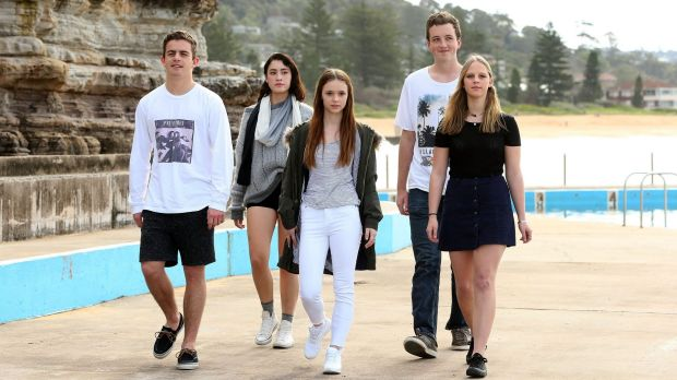 Meet Generation Z: (From left)  Zac McSwiney, Elle Ramirez, Molly Rea, Dane Moltzen and Bronte McInnes.