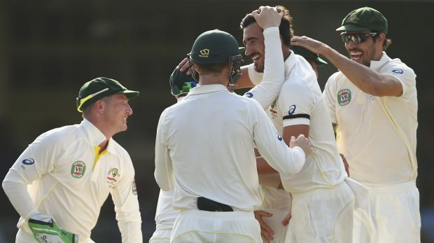Mitch Starc reinforced his burgeoning reputation as a fearsome new-ball bowler by removing both West Indies openers in ...
