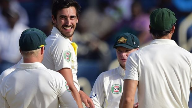 Standing tall: Mitchell Starc has carried his one-day form into the Test arena.