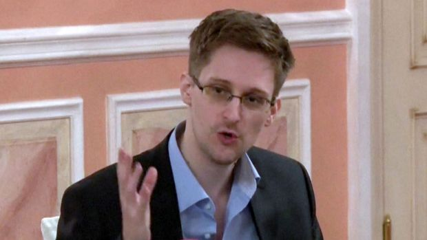 US intelligence leaker Edward Snowden in Moscow on October 9, 2013.
