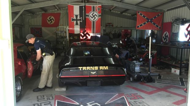 Police discovered Neo-Nazi material in a Cooktown shed.