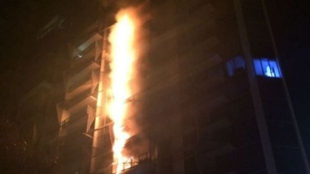 The fire at the Lacrosse tower in November 2014 raced up 13 floors in as little as ten minutes due to combustible ...