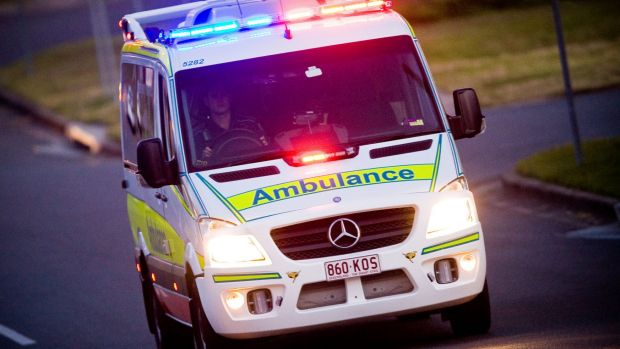 The elderly woman was taken in a serious condition to Royal Brisbane Hospital.