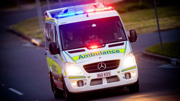 The man was taken to Gold Coast University Hospital in a serious condition.