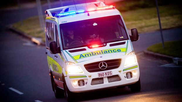 An ambulance was attacked in Cairns on Saturday.