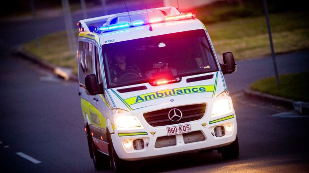 A man in his 80s was taken to hopsital after a ride-on mower rolled on him as he mowed on a slope.