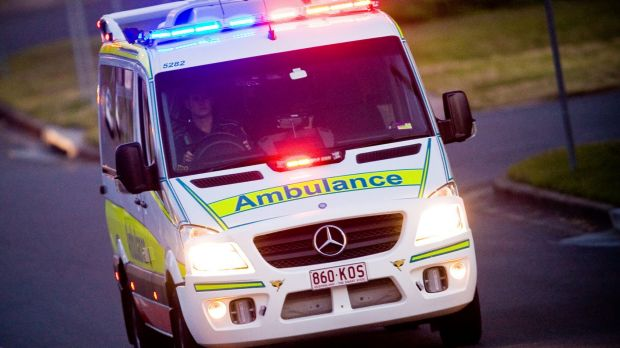 Paramedics were called to the site earlier today.