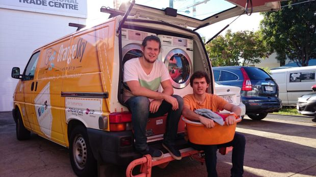 Orange Sky founders Nic Marchesi and Lucas Patchett.
