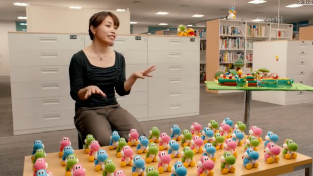 Software planner Emi Watanabe talks about her work on Yoshi's Wooly World. The plush, knitted amiibo toys were inspired ...