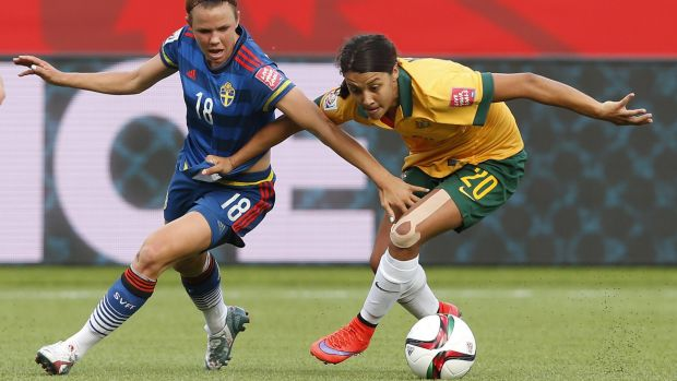 Just in time: Sam Kerr has beaten the clock to be selected for the Matilda's team for Rio.