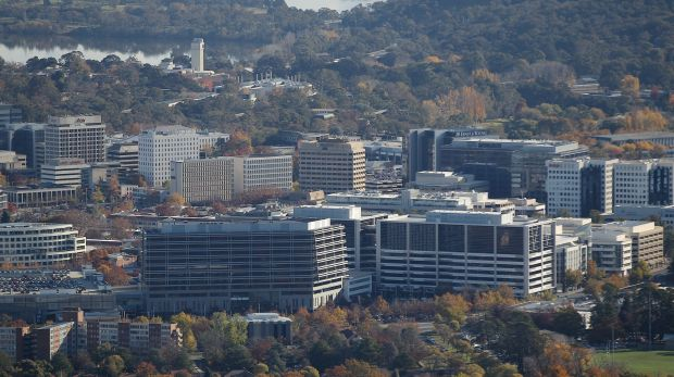 Office buildings in Canberra, where there are concerns that a fifth of the commercial leasable area across the city ...