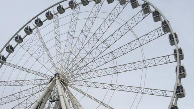 The South Bank brawl broke out near the Wheel of Brisbane at South Bank.