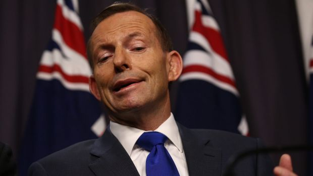 """Prime Minister Tony Abbott accused Labor of """"rolling out the red carpet for terrorists""""."""