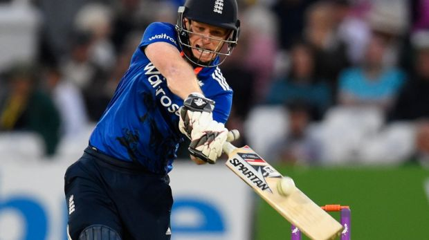 England skipper Eoin Morgan has hit nearly as many sixes in four matches as the entire England team in the World Cup.