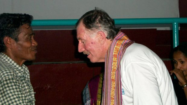 Ian Chappell in East Timor 2002.