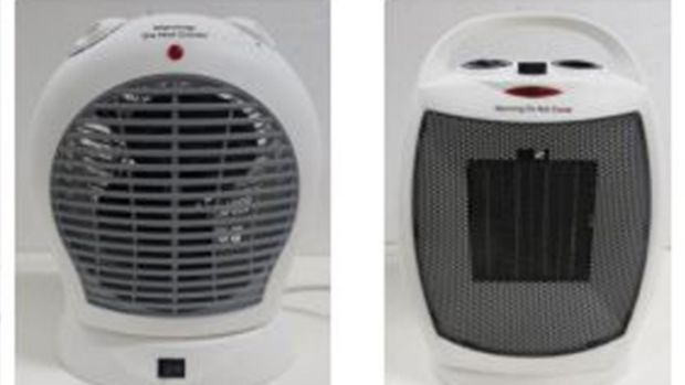 Two of the four suspect portable heaters being recalled by retailers.