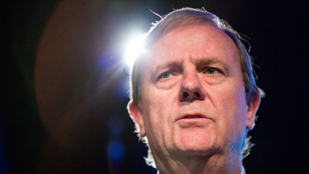 Still in the limelight: Peter Costello.