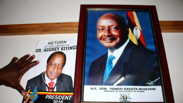 Aggrey Kiyingi is going up against Ugandan President Yoweri Museveni, who has been in power since 1986.