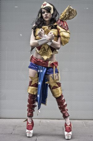 Sarah Groenewood dressed as Wonder Woman at a previous Comic Con event in Melbourne.