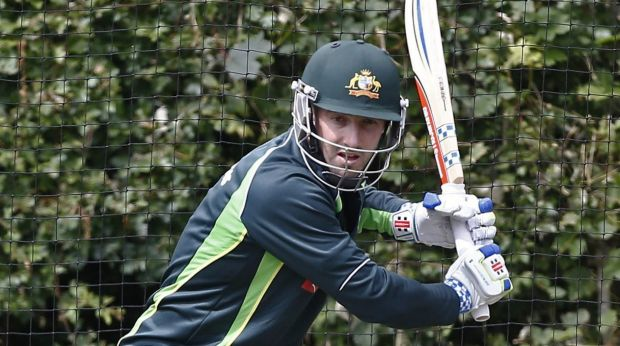In the swing: Shaun Marsh is keen to press his claims for the Ashes by impressing in the lead-up matches.