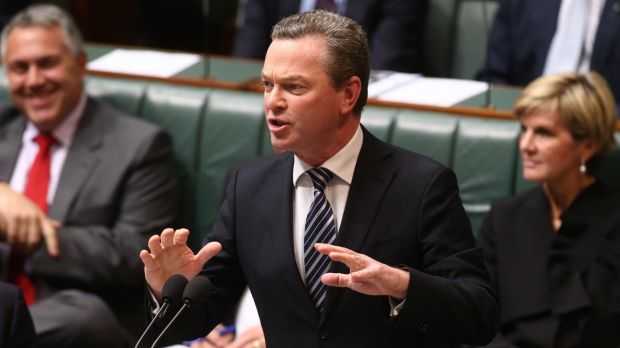 Education Minister Christopher Pyne during question time on Monday.