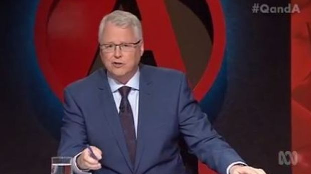 """Q&A host Tony Jones ruled Zaky Mallah's comment """"out of order""""."""