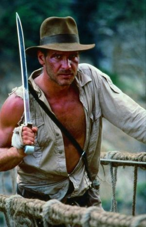Harrison Ford as Indiana Jones in the earlier films.