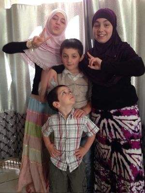 Zaynab Sharrouf (left) with two of her siblings.