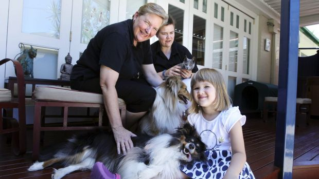 Michele Packet and her partner Judy Cole with their daughter Jessica Cole-Packet, 5, at their home in Sydney last year.