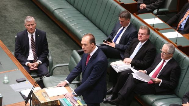 Immigration Minister Peter Dutton introduced the Australian Citizenship Amendment Bill in Parliament on Wednesday.